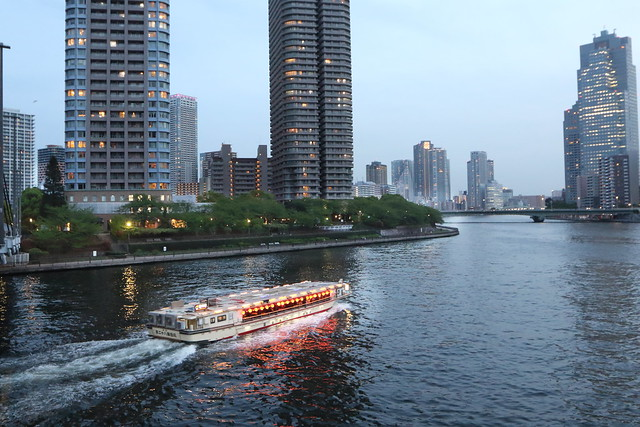 A Houseboat(YAKATABUNE) on the Sumida River