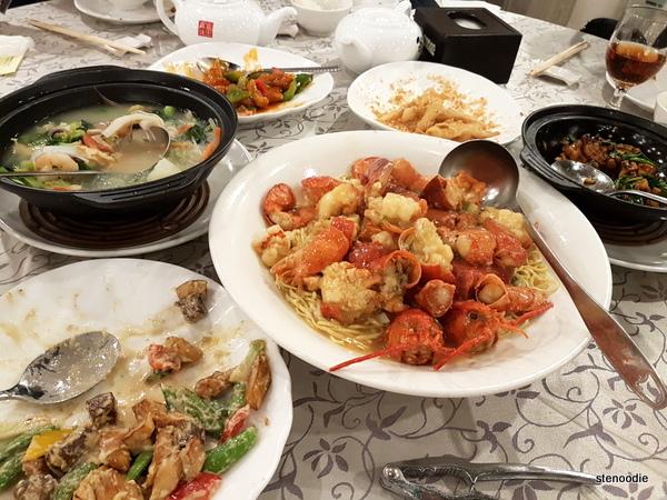 Fe Wong Seafood Restaurant dinner