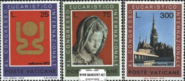Známky Vatikán 1973 Kongres, neraz. séria MNH