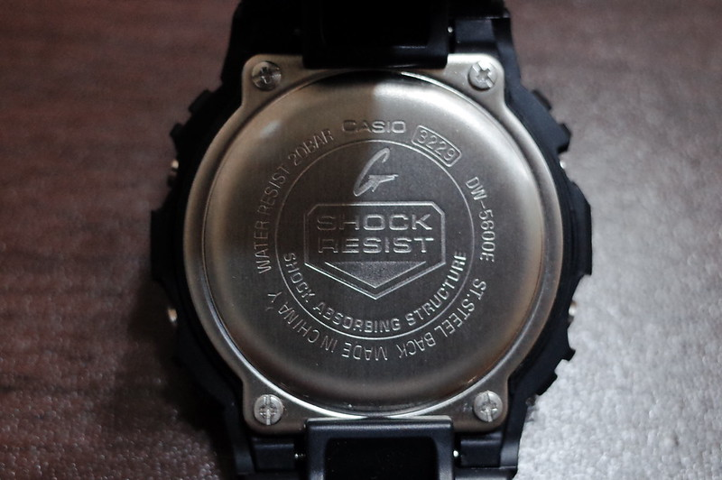 CASIO G SHOCK DW 5600E 1裏