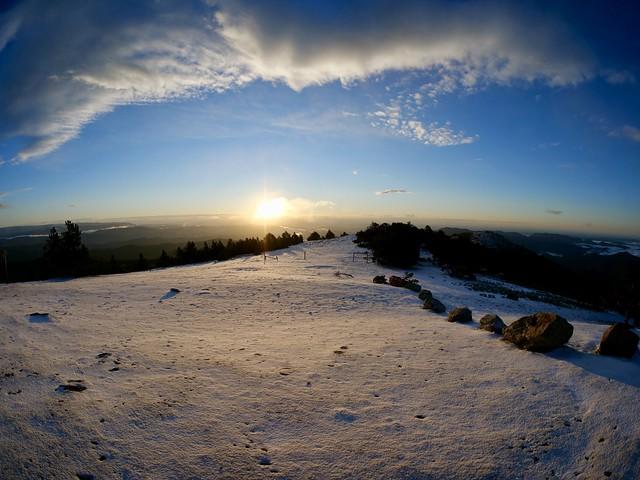 Aurore au Mont Aigoual, 1567 m, Gard, France