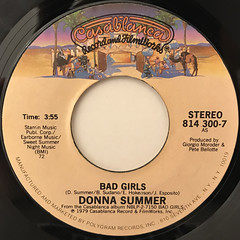 DONNA SUMMER:BAD GIRLS(LABEL SIDE-A)