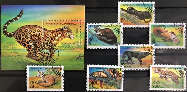 Známky Madagaskar 1994 Šelmy, razítkované
