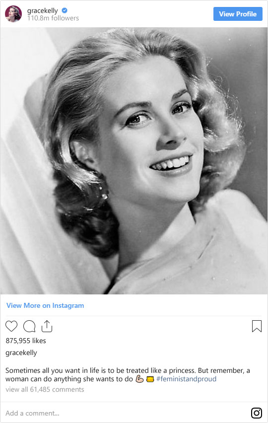 If These Legendary Old Hollywood Stars Were on Instagram Today: Grace Kelly | Not Dressed As Lamb (image: WikiCommons)