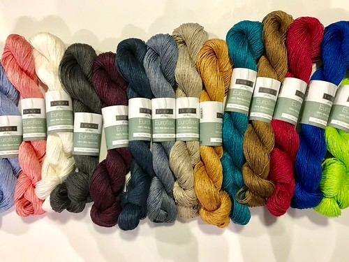 Louet Euroflax in 16 colours have also landed in the shop just in time for LYS Day!