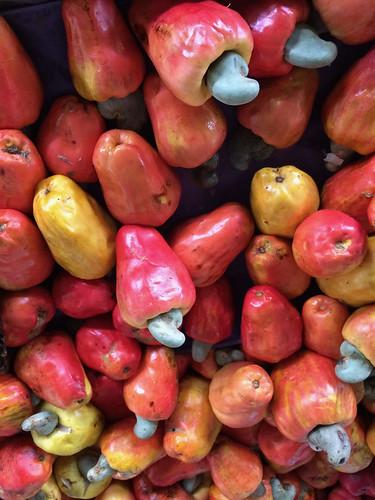 marañon fruit at the market