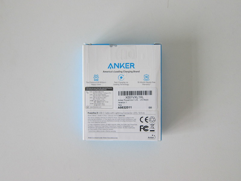 Anker Powerline II USB C to Lightning Cable - Box Back