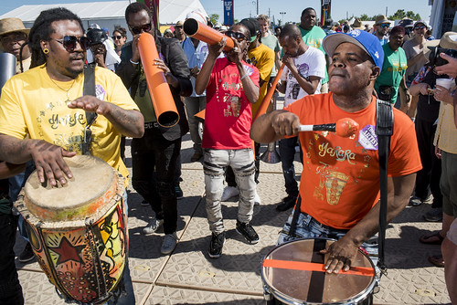 Parade at Jazz Fest day 2 on April 26, 2019. Photo by Ryan Hodgson-Rigsbee RHRphoto.com