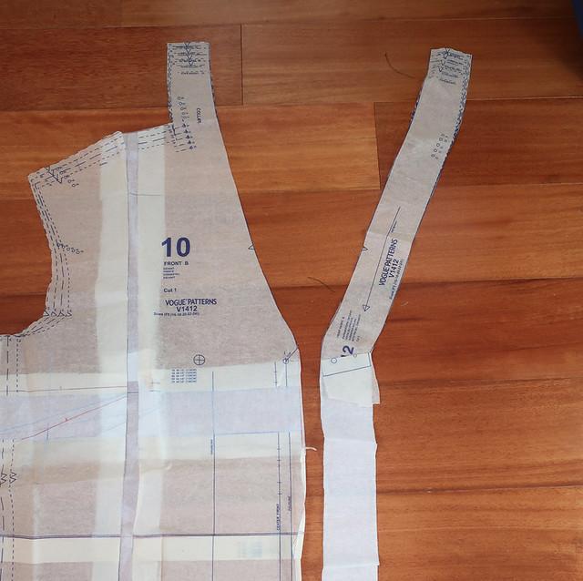 Vogue silk top facing adjustment