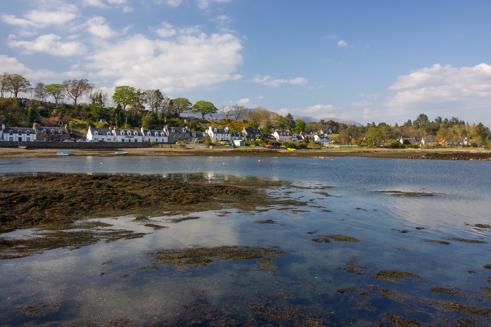 The village of Plockton from the island