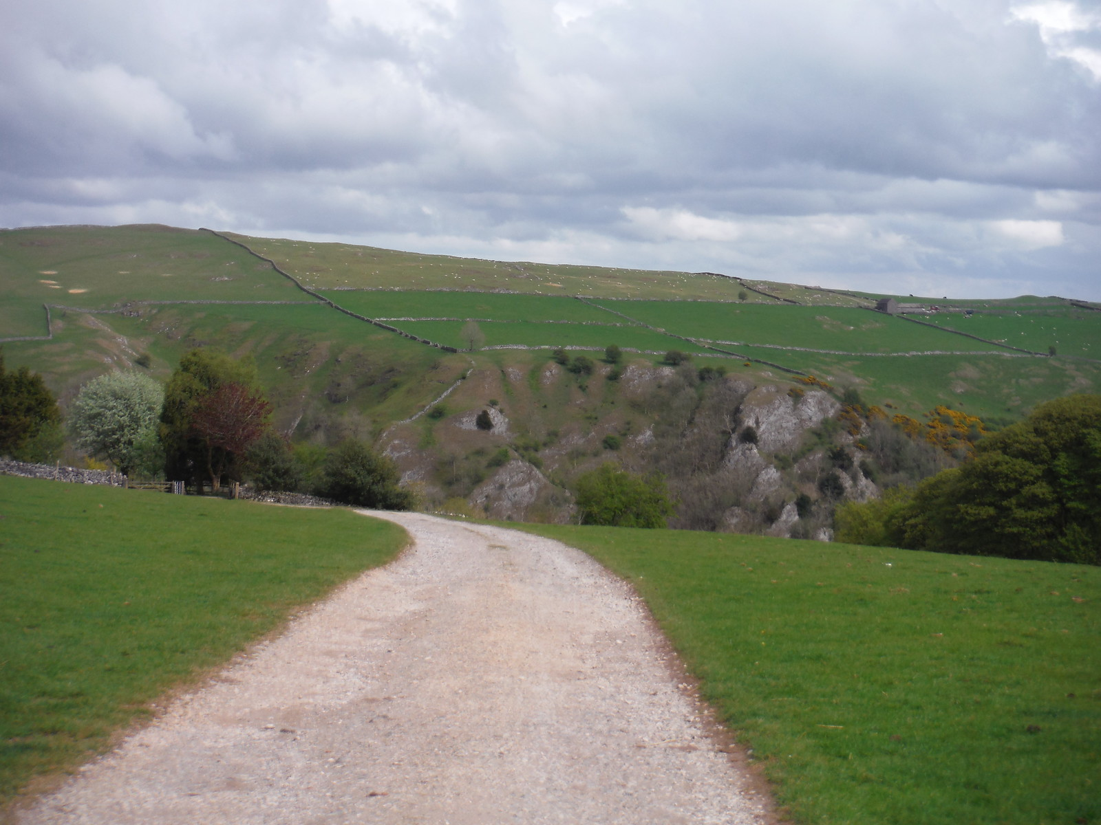 View across Dovedale from Ilam Tops SWC Walk 326 - Dovedale (Ashbourne Circular)
