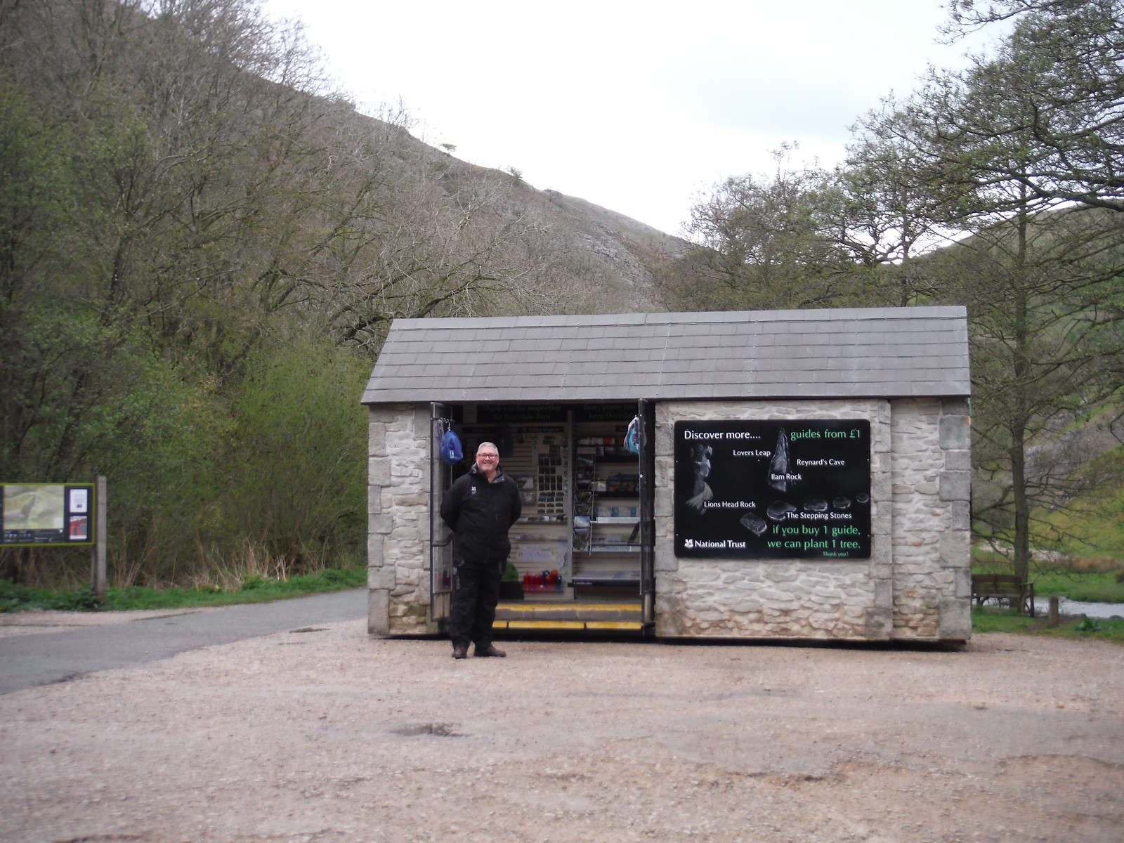 NT Info Kiosk at Thorpe Cloud SWC Walk 326 - Dovedale (Ashbourne Circular)