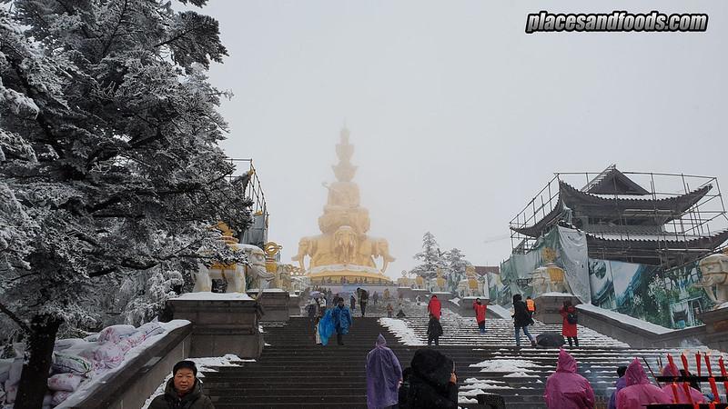 china mount emei golden buddha