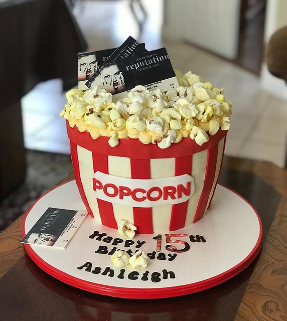 Bucket of Popcorn by Cake Batter Bakery