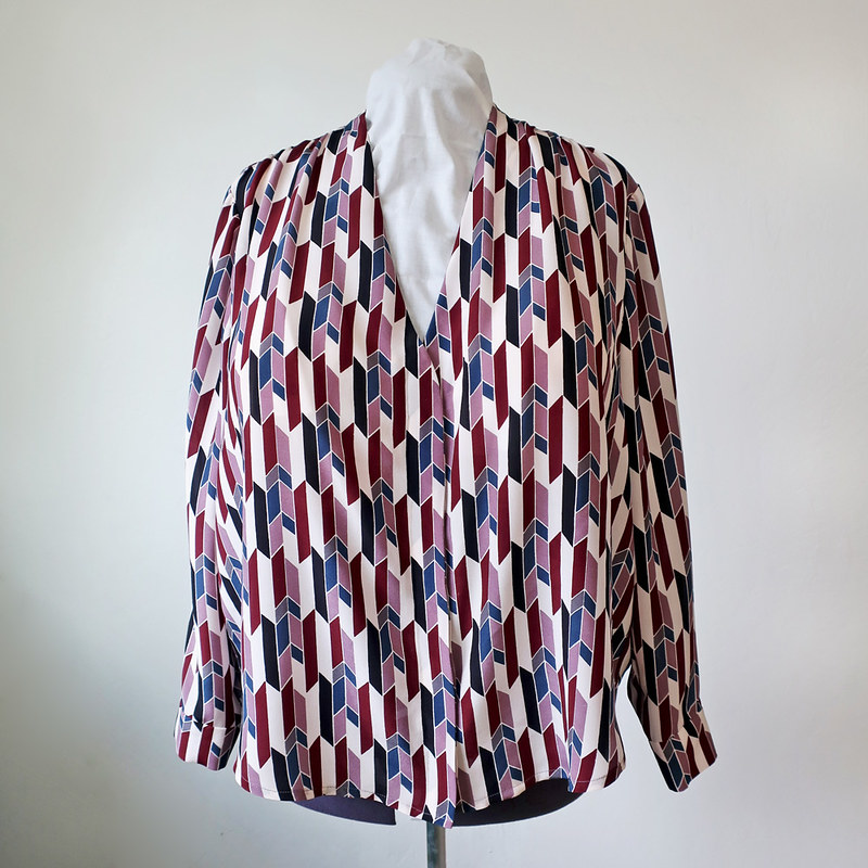 silk blouse front on form