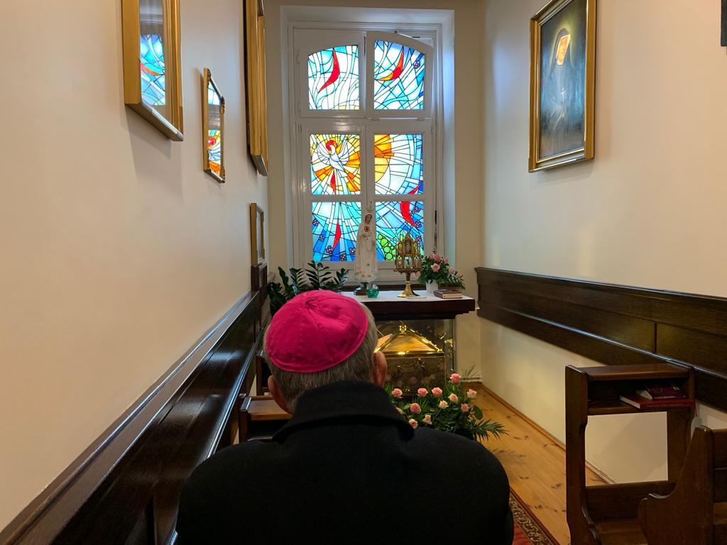 Modlitwa w celi św. Siotry Faustyny | abp Marek Jędraszewski