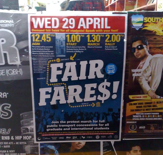 2009 fare protest poster