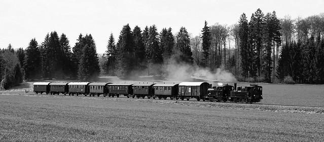 Schwäbische Alb Bahn · Steam train on a route in the mountains