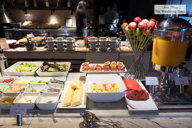 Afternoon bites served at the Executive Lounge