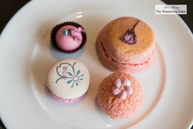 Cherry blossom (sakura) inspired pastries