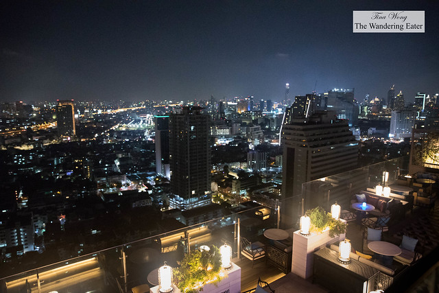 Nighttime view of Yao Rooftop