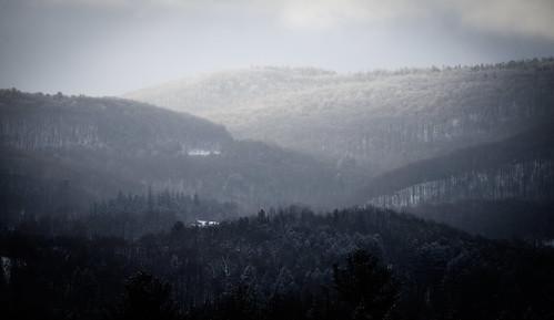 sunrise snow clouds taconic mountains range appalachian new york ny landscape light shadow black white bw nikon d610 ryan grennan upstate frost winter rwgrennan rgrennan forest trees