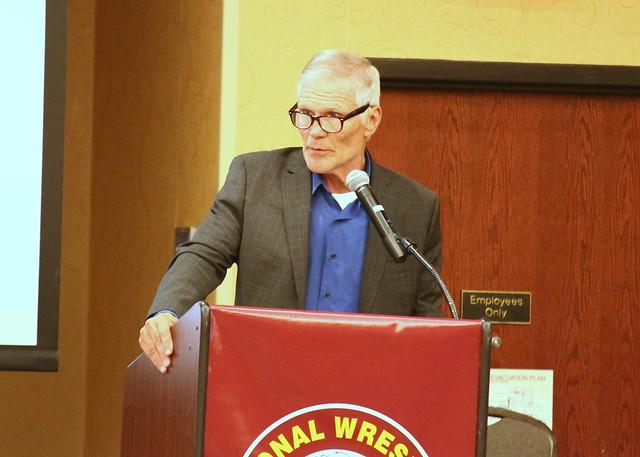 2019 National Wrestling Hall of Fame, Minnesota Chapter Lifetime Service inductee Lyle Freudenberg. 190427AJF0083