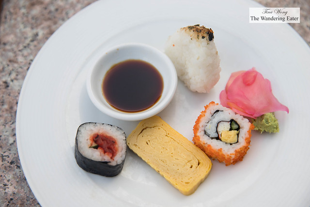Assortment of sushi at Next2 Cafe