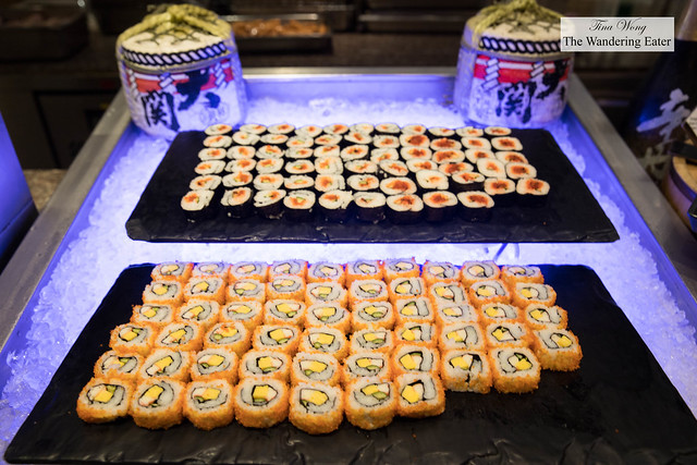 Vegetarian sushi rolls at Next2 Cafe
