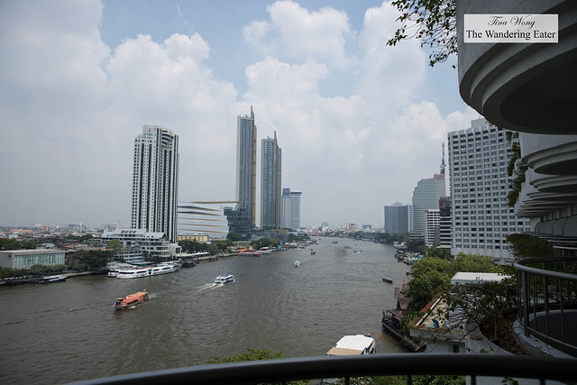 Balcony views from Krungthep River View Room