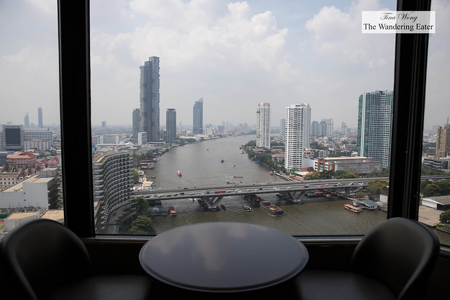 View of Chao Phraya River from the Executive Lounge