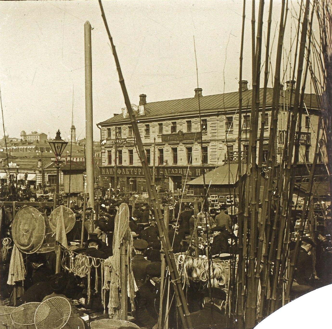 Птичий рынок на Трубной. 1913