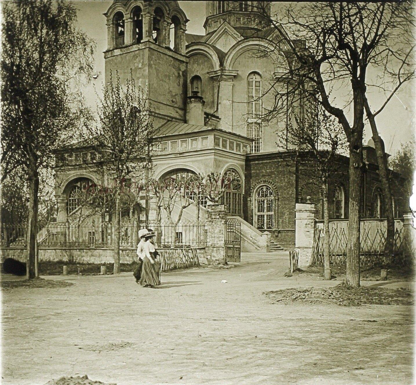 Дворцовая Благовещенская церковь в Петровском парке. 1913