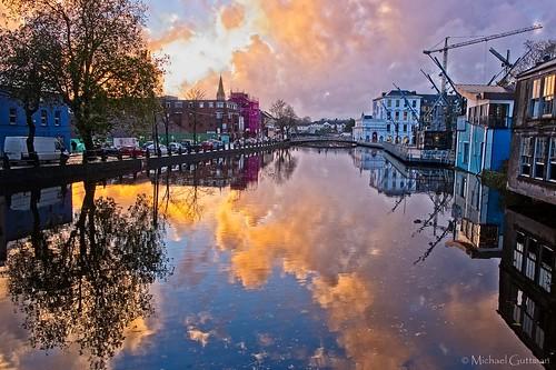 riverlee cork ireland sunset river calmwater hss sliderssunday reflections mirror watermirror