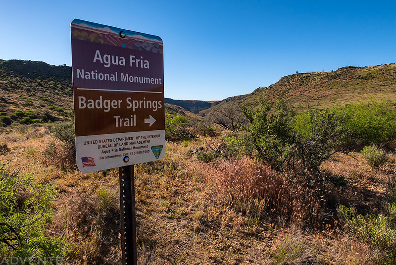 Badger Springs Trail Sign