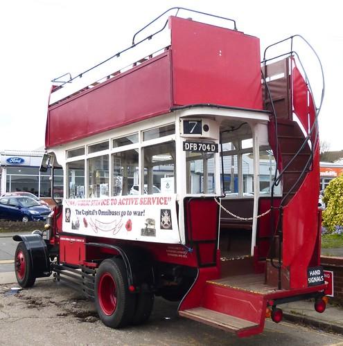 DFB 704D 'London General Omnibus Company'. AEC 'B' type /2 on Dennis Basford's railsroadsrunways.blogspot.co.uk