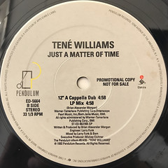 TENE WILLIAMS:JUST A MATTER OF TIME(LABEL SIDE-B)