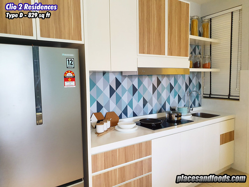 the clio 2 residences type d kitchen