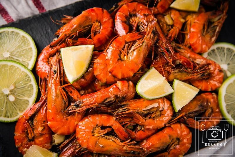 宅宅太太,料理食譜,蒜味酸辣檸檬蝦,蝦子料理 @陳小可的吃喝玩樂