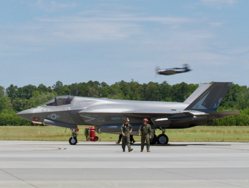 F35 watches on | H. Michael Miley | Flickr