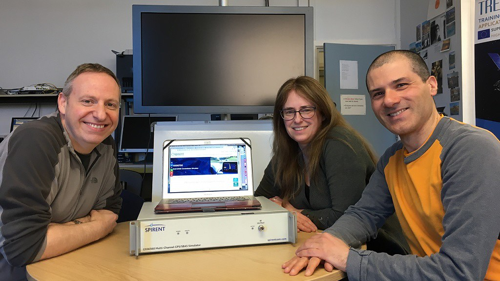 Principal Investigator Professor Cathryn Mitchell with, left to right, Co-Investigators Dr Rob Watson and Dr Biagio Forte