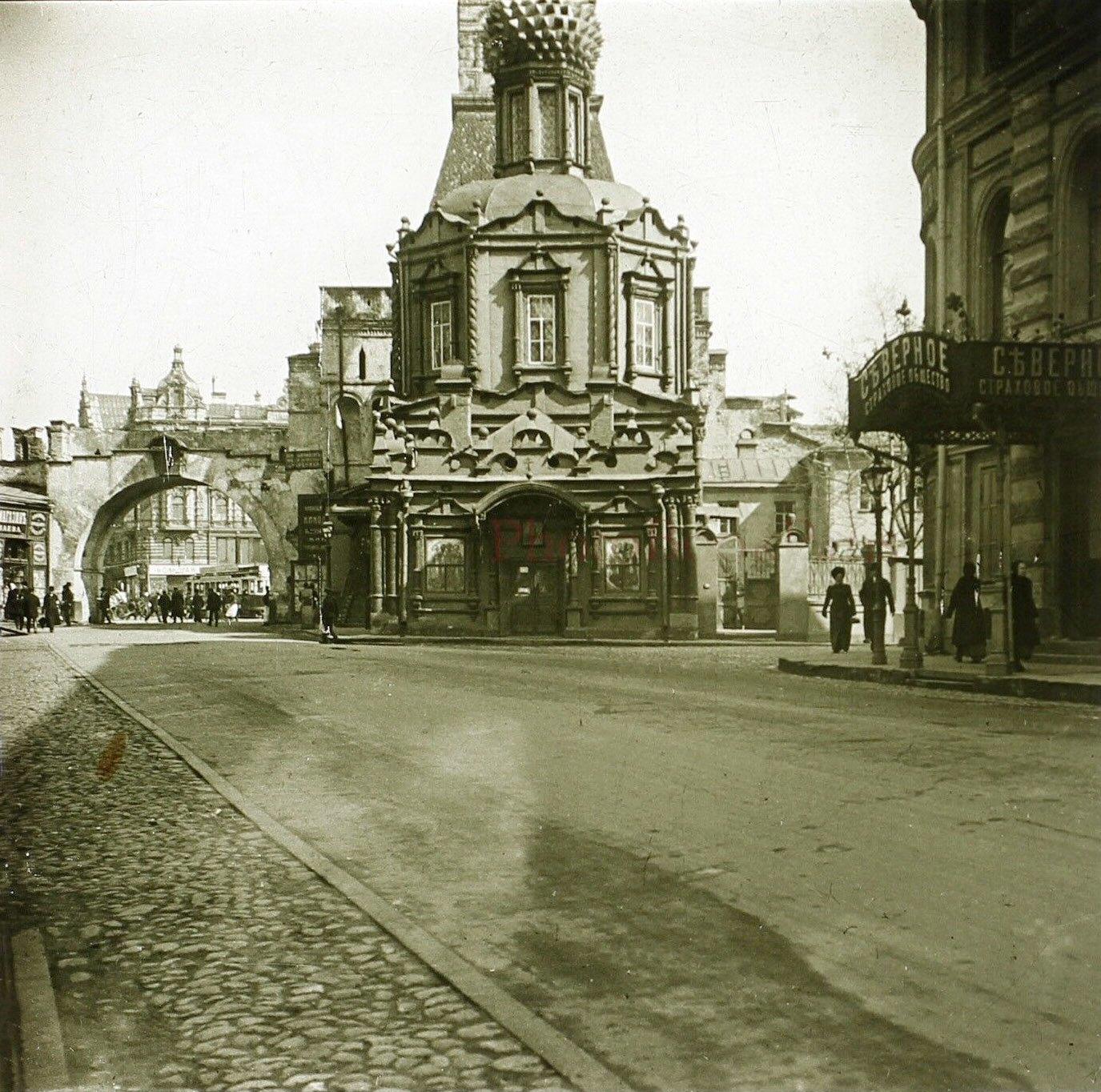 Никольская улица. Церковь Владимирской богоматери. 1913