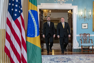 Secretary Pompeo Meets With Brazilian Foreign Minister Araújo