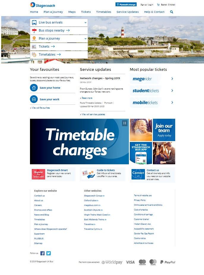 Stagecoach Web Site