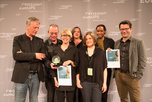 CE19 - Award Ceremony: Ralph Eue (jury member), Anna Eborn (Special Mention Best Documentary), Winner Thomas Heise, Wiltrud Katharina Hackl (gfk gesellschaft für Kulturpolitik OÖ), Oksana Sarkisova (jury member), Djamila Grandits (jury member), Nebojša Sl