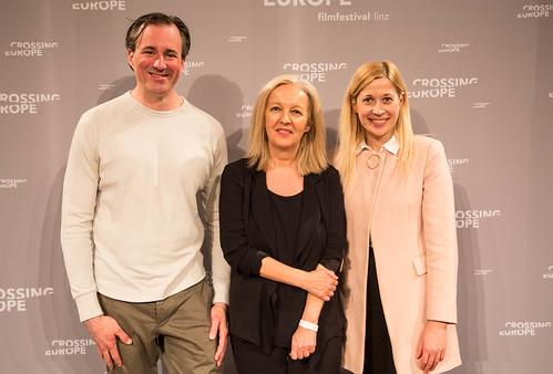CE19 - Award Ceremony // Patrick Bartos (Creative Region Linz & Upper Austria), Christine Dollhofer (Festival Director), Doris Lang-Mayerhofer (City Councilor) // photo © Christoph Thorwartl / subtext.at