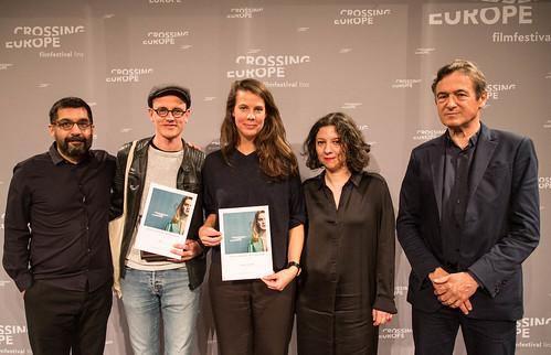 CE19 - Award Ceremony // Mahmut Fazıl Coşkun, Special Mention - Fiction Film (Claus Reichel, Rosanne Pel), Jean Perret, Ana Lungu // photo © Christoph Thorwartl / subtext.at