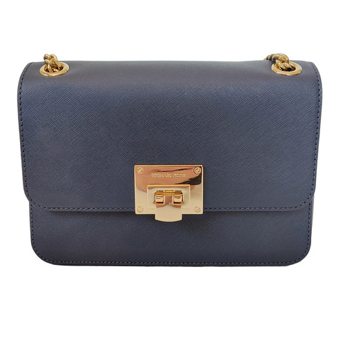Dettagli su ⭐️ BORSA DONNA MICHAEL KORS TINA PELLE BLU NOTTE SHOULDER CROSSBODY BAG WOMAN ⭐