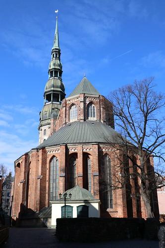 riga latvia city urban building architecture baltic church topic