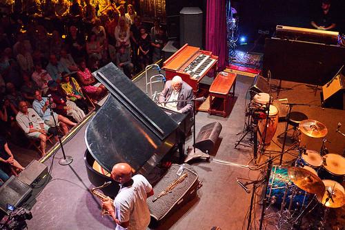 Branford Marsalis and Ellis Marsalis at Piano Night - April 29, 2019. Photo by Eli Mergel.